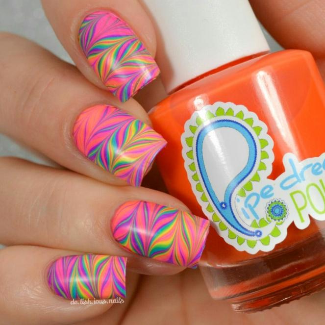 Pdp tie dye jellies watermarble