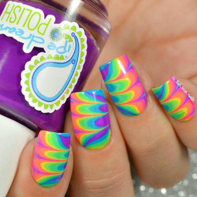 Pdp watermarble tie dye jellies